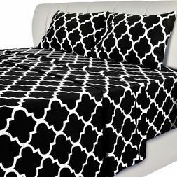 bed sheet set 4 pieces grey blue