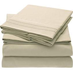 #1 Bed Sheet Set - HIGHEST QUALITY Brushed Microfiber 1800 B
