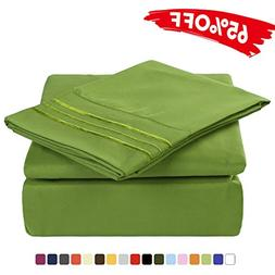 Merous 4 Piece Bed Sheet Set with Deep Pocket - Hypoallergen