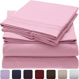Mellanni Bed Sheet Set Brushed Microfiber 1800 Bedding - Wri