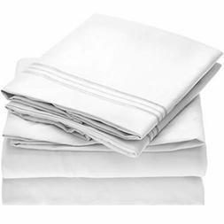 Mellanni Bed Sheet Set Brushed Microfiber 1800 Bedding - Dee