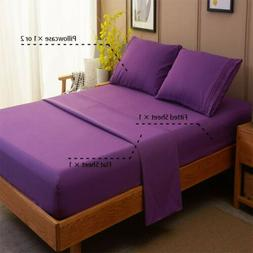 Sonoro Kate Bed Sheet Set Cal King Microfiber 1800 Thread Co