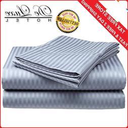 BED SHEET SET Deep Pocket Fitted Flat 4PCS 100 % COTTON KING