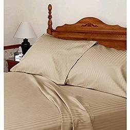 "Sleepwell 4 PCs Bed sheet set 6"" Deep pocket 400 TC 100% Cot"