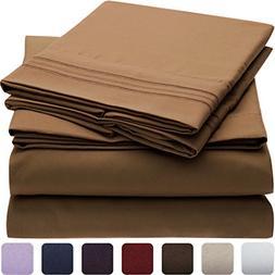Mellanni Bed Sheet Set - HIGHEST QUALITY Brushed Microfiber
