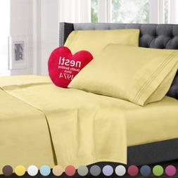 Nestl Bedding Bed Sheet Bedding Set, King Size, Mustard Yell