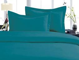 Bed Sheet Elegant Comfort 4 Piece Turquoise King Size Deep P