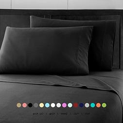 Prime Bedding Bed Sheets - 4 Piece California King Sheets, D