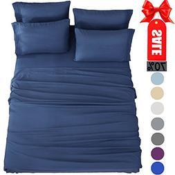Bed Sheets Set California King Sheets Microfiber Super Soft