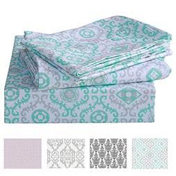 LANJIA Bed Sheets Set King Size Soft Brushed Microfiber Bedd