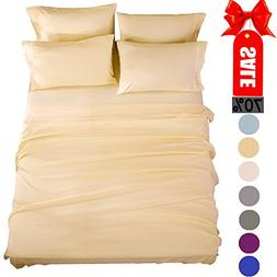 Bed Sheets Super Soft Microfiber 1800 Thread Count Luxury Eg