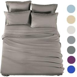 SONORO KATE Bed Sheets Set Microfiber Super Soft  Egyptian 6