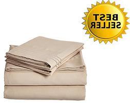 Elegant Comfort Bedding Collection 4-Piece Bed Sheet Set 150