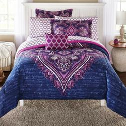 Full Size Bedding Set Bed In A Bag Microfiber Comforter Mode