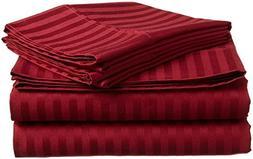 """Crafts Linen 4 PC Bedding Sheet Set 6"""" Deep Pocket 400 TC 10"""