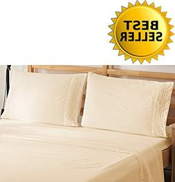 Elegant Comfort 4-Piece Bedding Sheet Set! Luxury Soft 1500