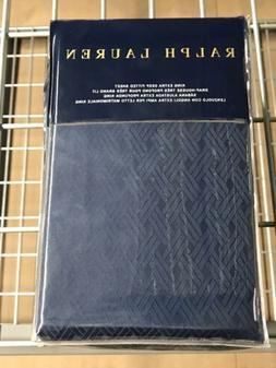 Ralph Lauren Bedford King Deep Fitted Navy Sheet Retail $255