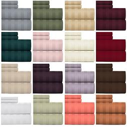 Weavely Bedsheet 100% Cotton 600 Thread Count Damask Stripe