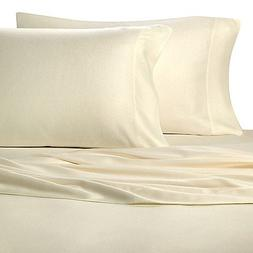 Pure Beech 100% Modal Flannel King Pillowcase Pair in Ivory