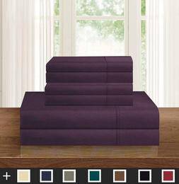 Bespolitan Inc. Cal King Size 1200 Thread Count 4Pcs Bed She