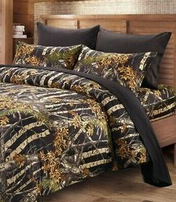 BLACK CAMO CAL KING SHEETS!! SET BEDDING 6 LIKE REAL TREE CA
