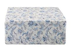 Ralph Lauren Blue and Navy Jacobean Floral on Off-White Shee
