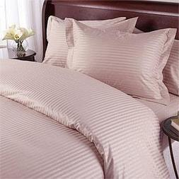Blush Damask Stripe TWO piece King Size / Long Pillow case S