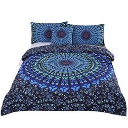 Sleepwish 4 Pcs Bohemian Bedding Set Bohemia Blue Mandala Be