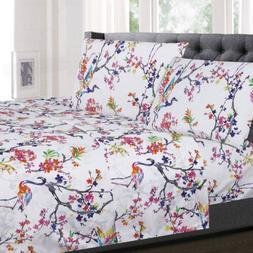 Botanical Pastel Floral Pattern 4-Piece 1500 Supreme Collect