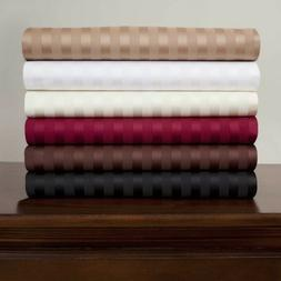 Branded 1 PC Fitted Sheet 1000TC Egyptian Cotton Only Stripe