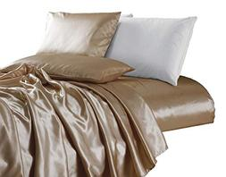Chezmoi Collection 4-piece Bridal Satin Solid Color Sheet Se
