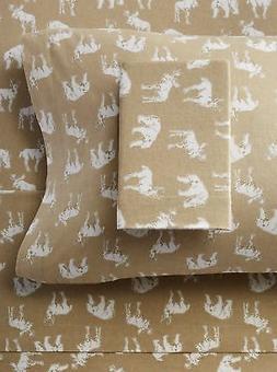 Eddie Bauer Buckhead Ridge Flannel Sheet Set, King