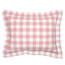 Buffalo Check Plaid Watercolor Gingham Pink Baby Girl Pillow
