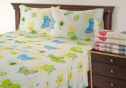 Butterfly Sheets - Ideal Teen Bed Sheets - 300 Thread Count