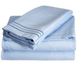 Cal/King 6 Piece Deep Pocket Bed Sheet Set Brushed Hypoaller