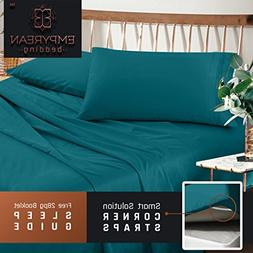 Premium Split King Sheets Set - Teal Turquoise Hotel Luxury