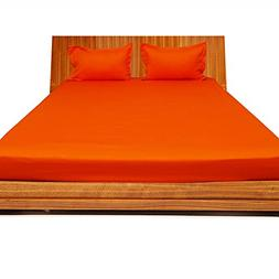 Relaxare Cal Queen 300TC 100% Egyptian Cotton Orange Solid 3