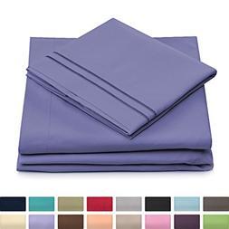 California King Bed Sheets - Peacock Blue Luxury Sheet Set -