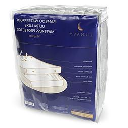 Lunavy King Size Mattress Protector - Easy-care Waterproof B