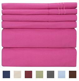King Size Sheet Set - 6 Piece Set - Hotel Luxury Bed Sheets