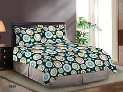Bombay Dyeing Cardinal Cotton Double One bedsheet and Two Pi