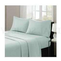 Madison Park Casual Count Cotton Bed Sheets KING Size SEAFOA