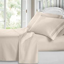 Clara Clark 1800 Premier Series 4pc Bed Sheet Set - King, Be