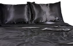 Elite Home Products 100% Luxury Satin Polyester Solid Sheet