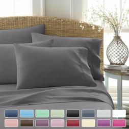 Comfort 1000TC 4 Piece Soft Bed Sheet Set Deep Pocket Twin/F