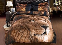 Ammybeddings Bednlinens Luxury 5 Piece Sheet Set 3D Lion Pri