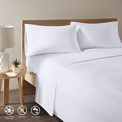 Copper Infused Bed Sheets - White King Size Sheets Set With