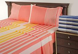 Coral Sheets - 100 % Cotton Sheets King  - Printed Bed Sheet