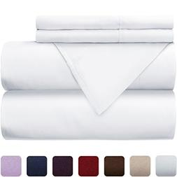 Mellanni 100% Cotton Bed Sheet Set - 300 Thread Count Sateen