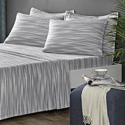 Brielle 100-Percent Cotton Flannel 6 Piece Sheet Set, King,